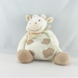 Doudou musical vache daisy blanche tachetée JOLLYBABY