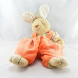 Doudou lapin beige orange carottes NOUKIE'S
