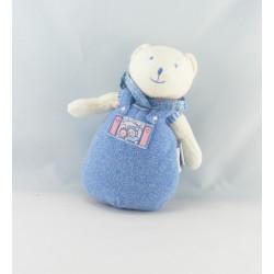 Doudou ours bleu mouchoir Lila Patachon MOULIN ROTY