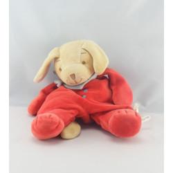 Doudou chien rouge BENGY 15 cm
