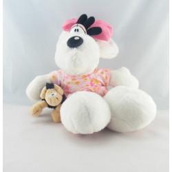 Doudou souris robe fleurs mouton Diddlina DIDDL