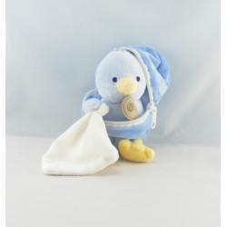 Doudou poussin bleu coquille avec mouchoir BABY NAT