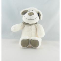 Doudou chien mouton blanc bandanas gris TEX BABY NEUF