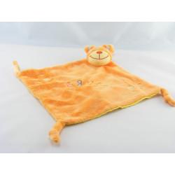 Doudou plat ours orange pois jaune BRUIN TOY'S RUS
