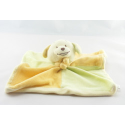 Doudou plat souris vert jaune orange JJA