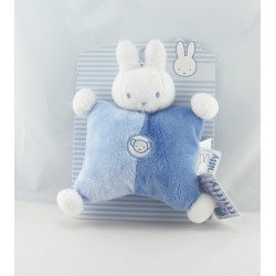 Doudou semi plat lapin bleu rose BABIBOU PLANET ET CO