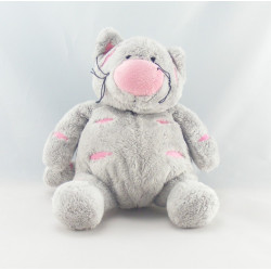 Doudou chat gris rose ANNA CLUB PLUSH