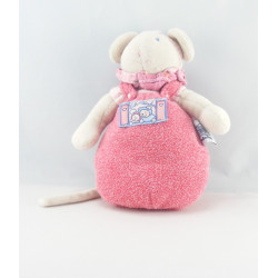 Doudou musical Souris Lila Patachon rose MOULIN ROTY