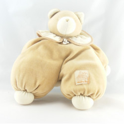 Doudou ours beige col blanc MOULIN ROTY 30 cm