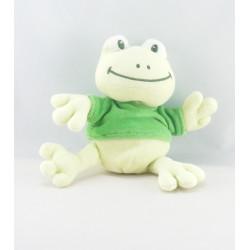Doudou grenouille verte pull vert BENGY