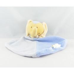 Doudou plat éléphant bleu BENGY