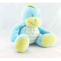 Doudou plat ours bleu gris nuage JOGYSTAR