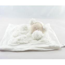 Doudou plat mouton blanc