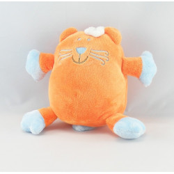 Doudou chat bleu orange VETIR