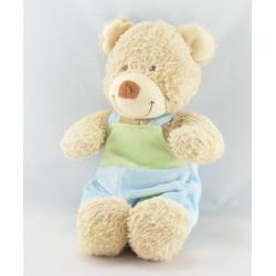 Doudou musical ours bleu vert mouton TEX BABY
