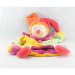 Doudou plat marionnette clown Clowny DOUDOU ET COMPAGNIE