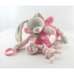 Doudou et compagnie hochet lapin rose pétale Mon doudou à moi