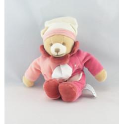 Doudou et compagnie pantin ours rose mouchoir
