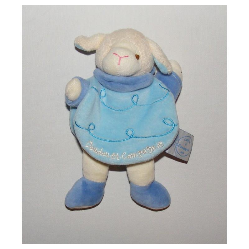 Doudou livre bleu Gaston le mouton Doudou et Compagnie