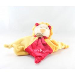 Doudou plat marionnette lion Fifi rouge jaune abeille BABY NAT