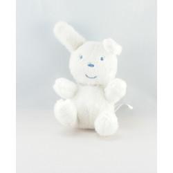 Doudou plat éponge lapin blanc AUCHAN