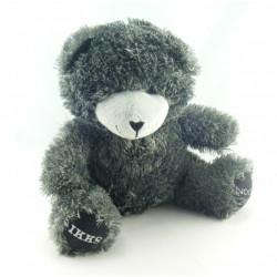 Doudou ours gris noir NOCIBE 2009 IKKS