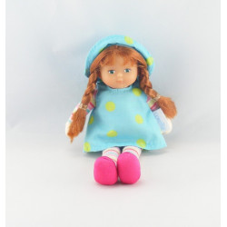 Doudou poupée mini coroline robe bleu Miss COROLLE