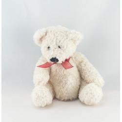 Doudou plat ours blanc PRODIMPOR