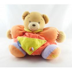 Doudou ours patapouf rouge bleu jaune coccinelle KALOO