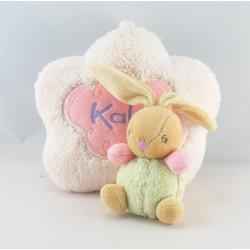 Doudou Lapin Boule lilirose fleurs Kaloo