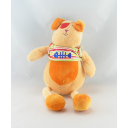 Doudou chien lapin orange NOUNOURS