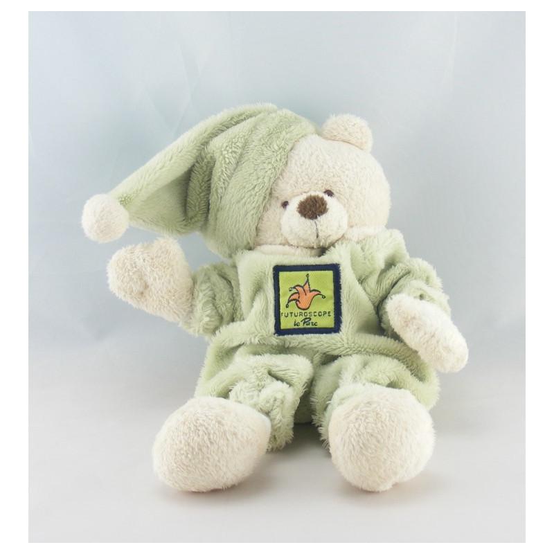 Doudou ours blanc tenue verte CMP FUTUROSCOPE