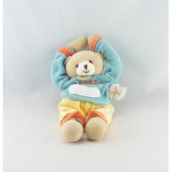 Doudou ours bleu jaune La Chambre de BABY NAT