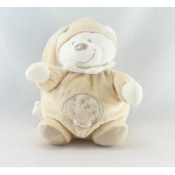 Doudou ours boule blanc écru oiseau étoile NICOTOY NEUF