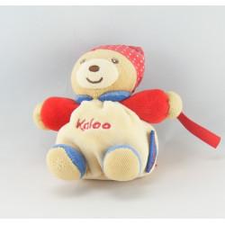 Mini Doudou ours beige bandanas rouge pois KALOO PEOPLE