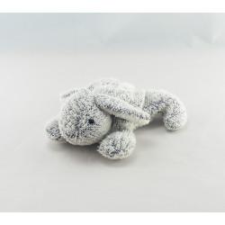 Doudou lapin blanc écru couché NOUKIE'S