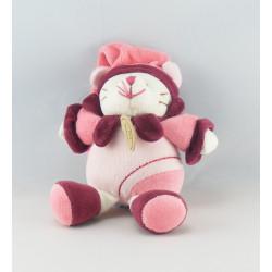 Doudou et compagnie chat Minouchette Bordeaux rose