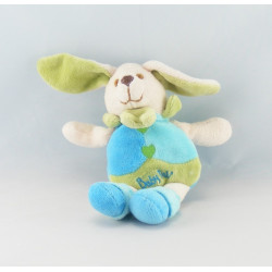 Doudou lapin rose bleu bordeaux attache tétine BABY NAT