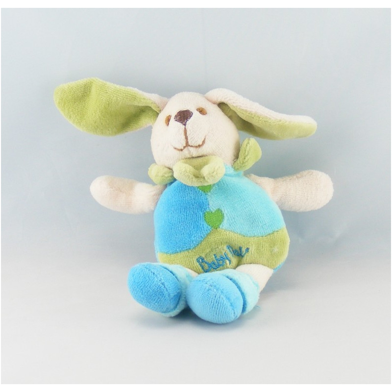 Doudou lapin rose bleu bordeaux attache tétine BABY NAT