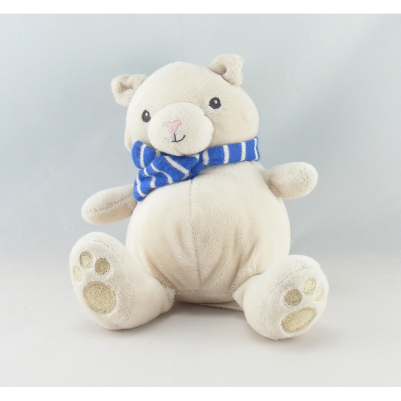 nouvelles variétés arrive large sélection Détails sur Doudou ours gris beige écharpe bleu HM H ET M - Ours Classique