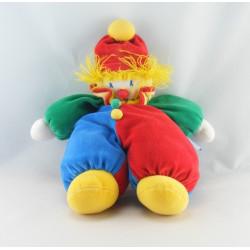 Grand Doudou clown rouge bleu vert jaune MOULIN ROTY