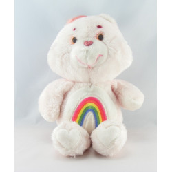 Ancienne Peluche Bisounours rose Grosfarceur Arc en ciel CARE BEARS