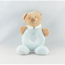 Mini Doudou ours brun pyjama bleu NATTOU