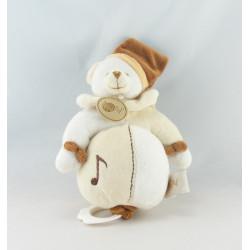 Doudou ours marron blanc beige BABY NAT