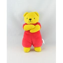 Doudou ours rouge et jaune BERCHET