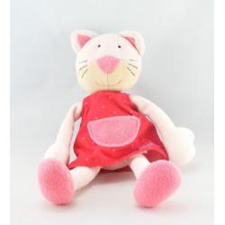 Doudou anneau hochet chat rouge BABYSUN