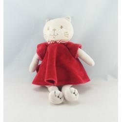 Doudou chat blanc SUCRE D'ORGE
