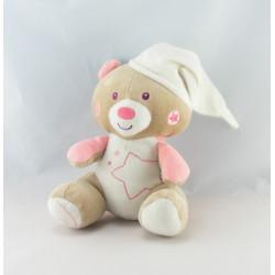 Doudou plat ours koala gris rose SUCRE D'ORGE