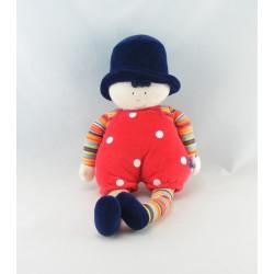 Doudou Clown rouge orange Sucre d'orge