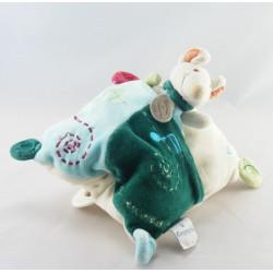 Doudou et compagnie plat souris verte Filousine